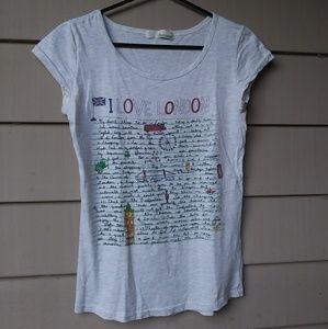 I love London Diary Letter T Shirt